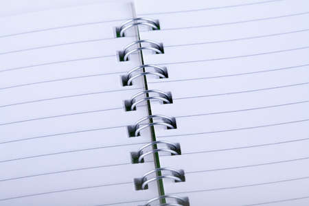 Spiral notebook close up photo with space for your text photo