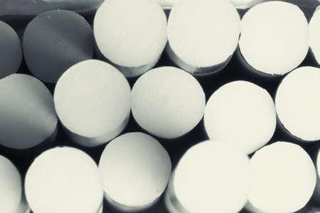 cigarette filter: Pack of cigarettes,close-up retro toned photo  Stock Photo