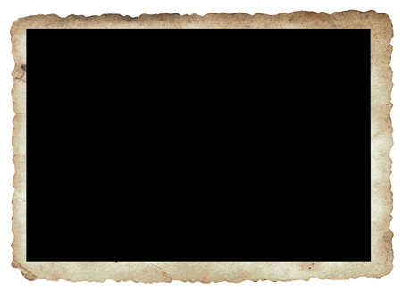 grunge layer: Computer designed antique photo frame  with space for your text or image. Great grunge layer for your projects. Stock Photo