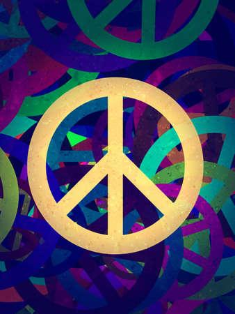 simbolo della pace: Computer progettati altamente dettagliato collage astratto grunge texture - sfondo Pace Archivio Fotografico