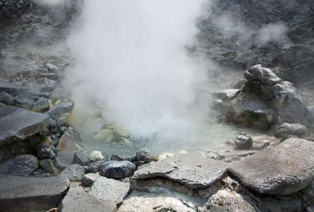 aerea: Photo of hot spring in Indonesian vulcano aerea