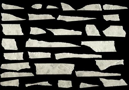 Strips of masking tape isolated on black background