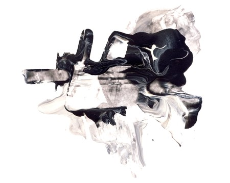 Acquerello astratto e mixed media design elemento isolato su bianco. Grande texture o sfondo per i vostri progetti Archivio Fotografico - 45734509