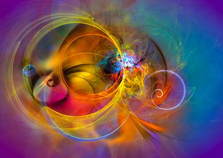 Moderne abstracte achtergrond ontwerp met ruimte voor uw tekst. Geschikt voor geestelijke, wetenschap, muziek, kunst en technologie projecten. Stockfoto
