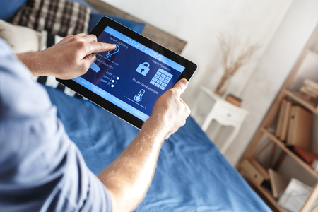 Smart home control digital devices modern technology