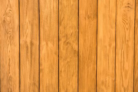Close up view of plank wood table with natural pattern texture, empty wooden board background with copy space Stockfoto