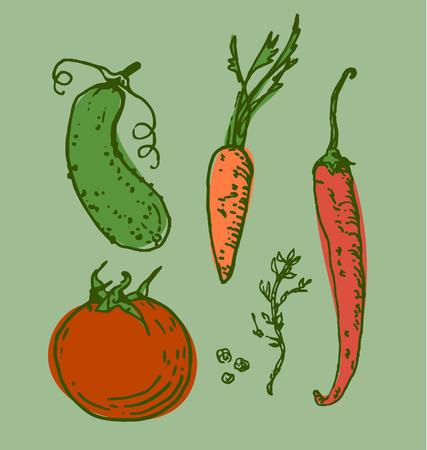 Assorted vegetables set