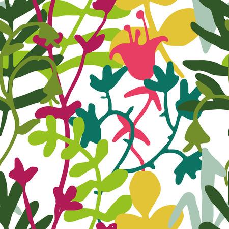 тундра: Вектор в зеленый, желтый и пурпурный на белом