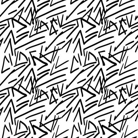 Simple black marker seamless vector pattern