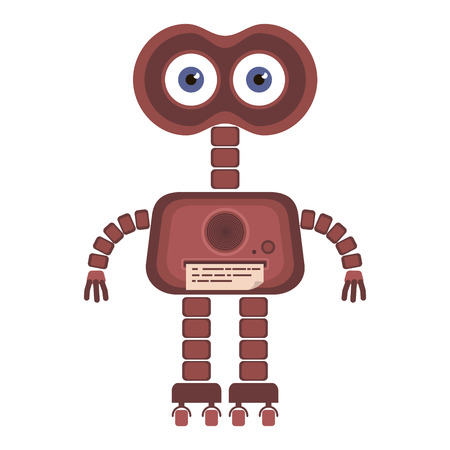 Cartoon cute robot.