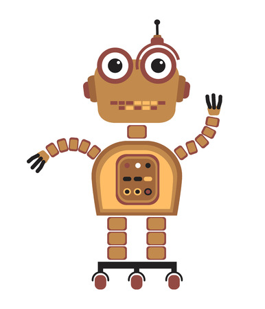 cute robot: Cartoon cute robot.