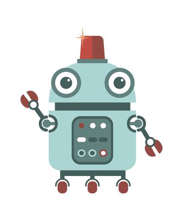 만화 귀여운 로봇.