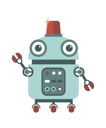 flashers: Cartoon cute robot.