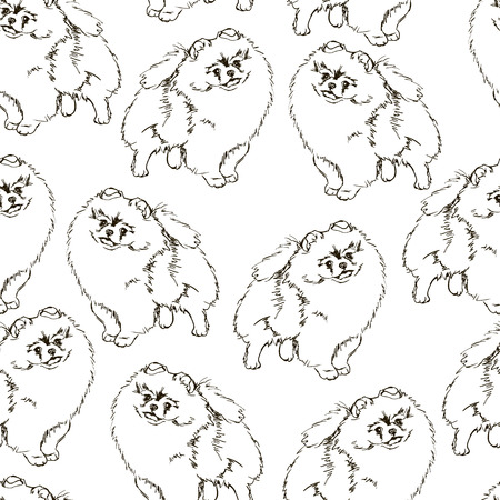 amazing wallpaper: Black and white dog pattern. Hand drawn background. Amazing artistic wallpaper. Can be used for wrapping paper, textile, web page background. Endless texture. Illustration
