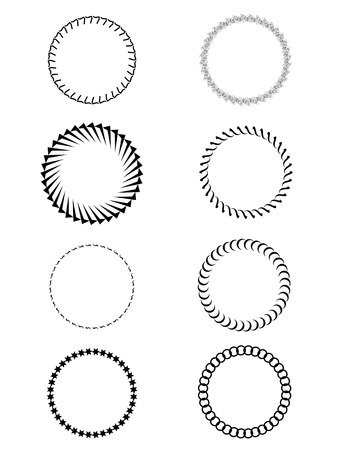 frameworks: set or round frames. Set of round and circular decorative patterns for design frameworks and banners