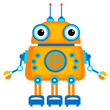 robot vector: Colorful Toy robot. Vector character. Cartoon colorful illustration Illustration