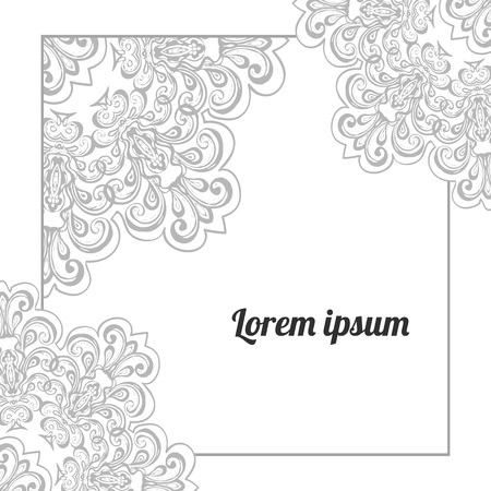 elegant template: Elegant greeting card or wedding invitation template with lace ornament, lacy background