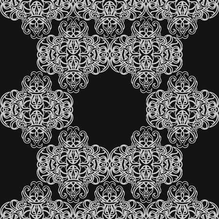 opulent: Vector dark seamless abstract background with floral elements. Can be used for wallpaper, pattern fills, web page, surface textures, textile print, wrapping paper. Illustration