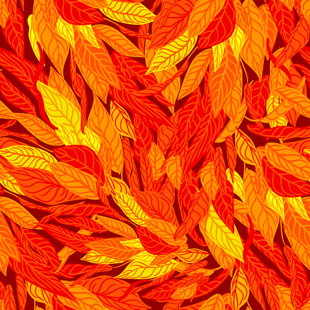 colorful seamless background with autumn leaves. Modern illustration. Can be used for wallpaper, pattern fills, web page, surface textures, textile print, wrapping paper.