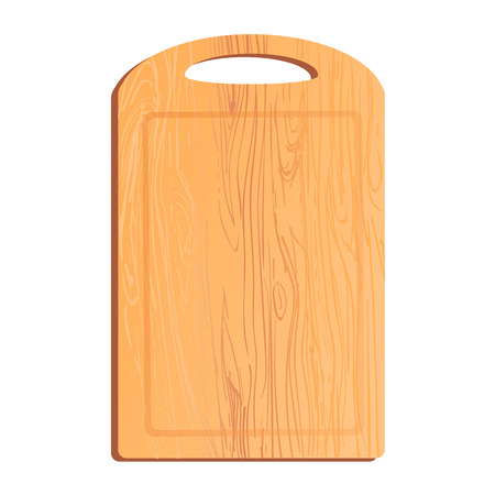 Vector colorful illustration or icon of chopping board Çizim