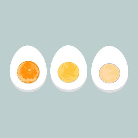 Vector kleurrijke illustratie van gekookte eieren