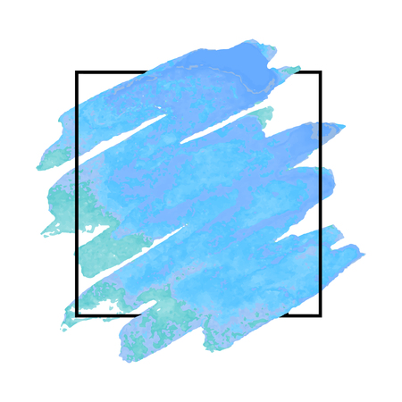 A Vector pattern background with brush strokes in watercolor, enclosed in square.