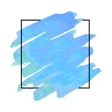 Ein Vektormusterhintergrund mit Bürstenanschlägen im Aquarell, eingeschlossen im Quadrat. Standard-Bild - 87624447