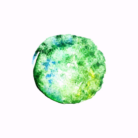 Green watercolor blob Illustration