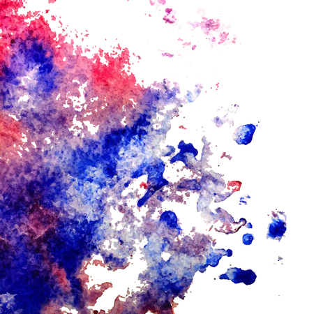 Vector colorful watercolor texture background, abstract illustration