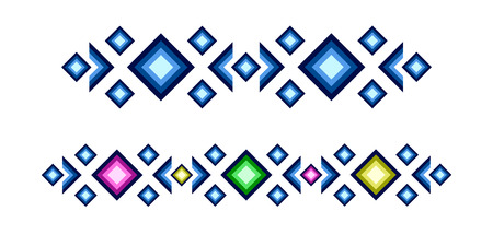 Colorful geometric pattern with diamonds. Illustration