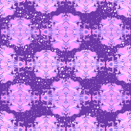 Seamless pattern with colorful abstract shape Illustration