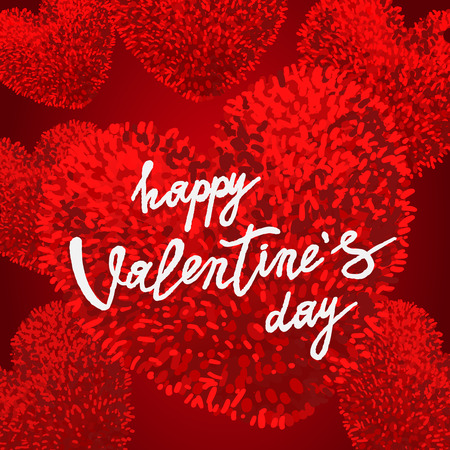 Happy Valentines Day greeting card Vector illustration.