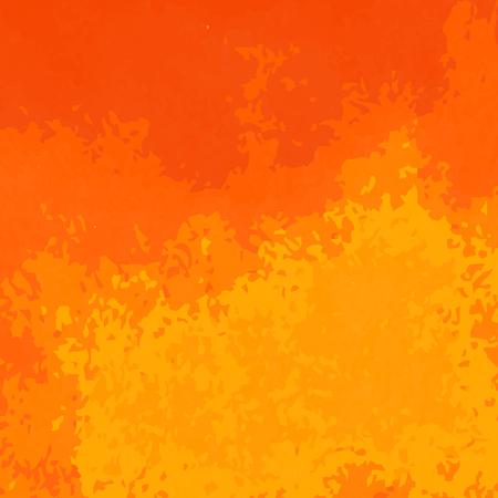 オレンジ色の水彩画のテクスチャパターン。