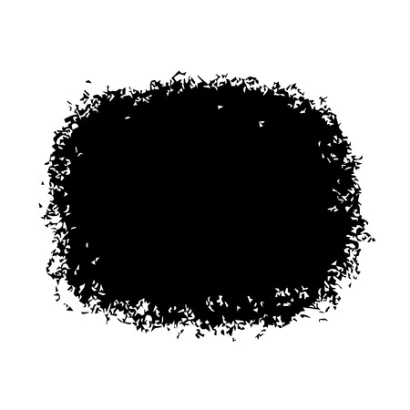 Vector backdrop with black blob. Abstract stain isolated on white background. Design template for poster, card, banner, flyers, invitation, brochure, sale.