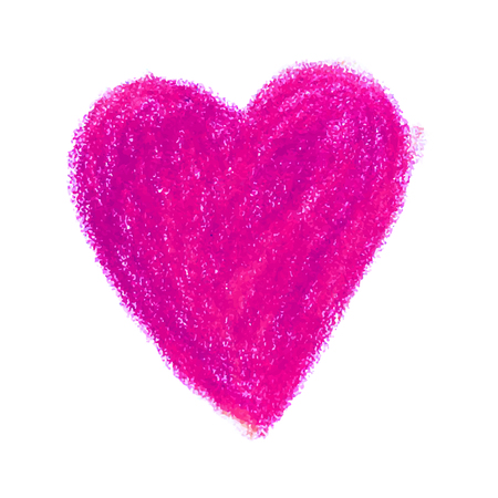 Vector colorful illustration of a hand drawn heart