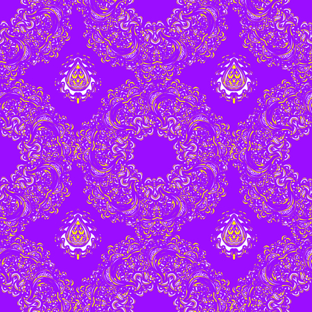 Vector colorful seamless abstract background with floral elements. Illustration