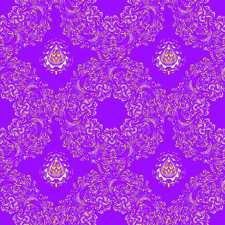 Vector bunte nahtlose abstrakte Hintergrund mit floralen Elementen Standard-Bild - 94222739