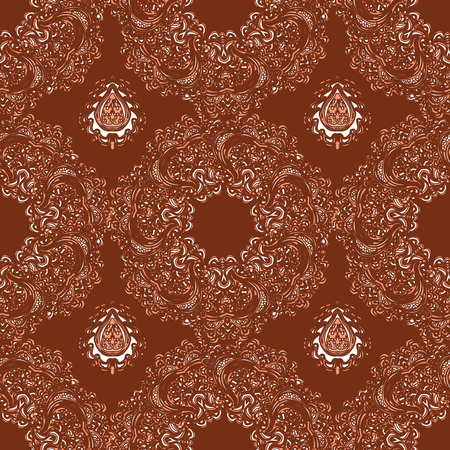 Vector colorful seamless abstract background with floral elements. For wallpaper, pattern fills, web page, surface textures, textile print, wrapping paper.