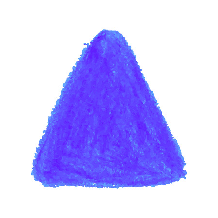 Shape with crayon scribble texture