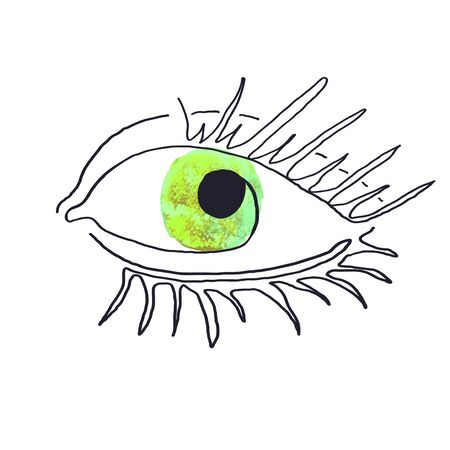 Vector modern poster with illustration of eye one line. Scandinavian Style. For wallpaper, posters, textile print, greeting card template, social media post,