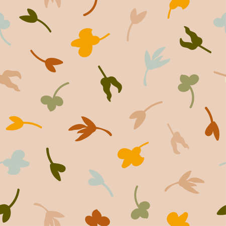 Vector seamless pattern with colorful illustration of flowers. Use it for wallpaper, textile print, pattern fills, web page, surface textures, wrapping paper, design of presentation