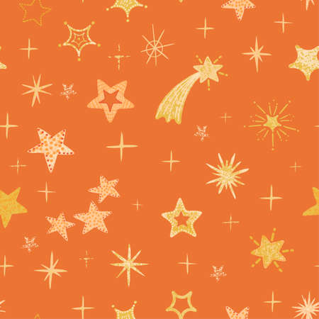 Vector modern colorful seamless background with star shape. Use it for wallpaper, textile print, pattern fills, web page, surface textures, wrapping paper, design of presentation