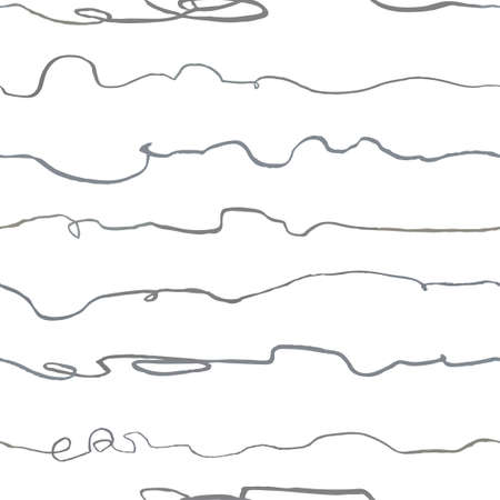 Vector modern seamless background with gray hand drawn horisontal lines, doodles. Use it for wallpaper, textile print, pattern fills, web, surface texture, wrapping paper, design of presentation