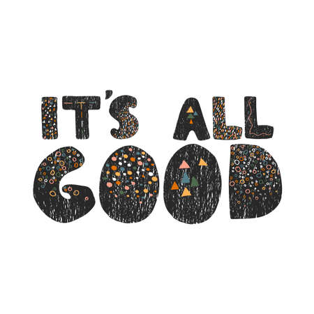 Its all good - fun hand drawn nursery poster with lettering