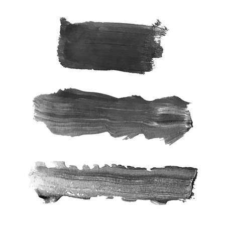 Set with gray abstract stain isolated on white background. Ilustração