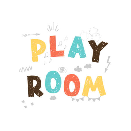 Play room - colorful icon isolated on white background -