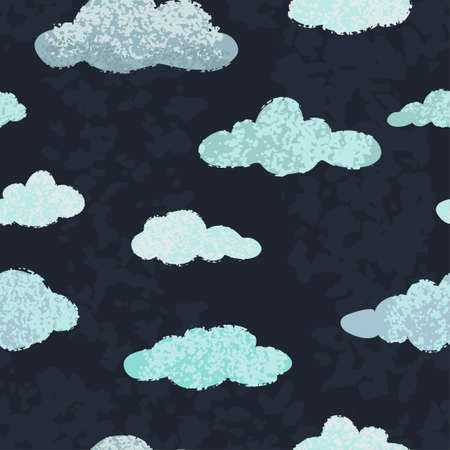 Vector modern seamless pattern with colorful hand draw llustrations of night sky. Can be used for wallpaper, pattern fills, web page, surface textures, textile print, wrapping paper, presentation