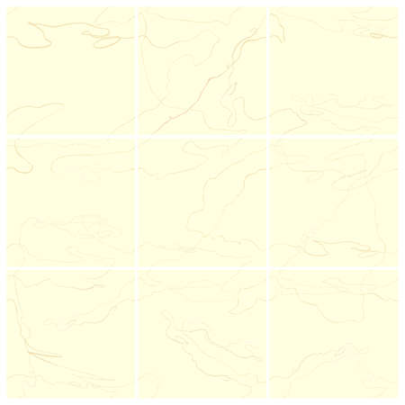 Vector seamless set of abstract trendy templates for social media post with hand drawn abstract elements, doodles. Background will continue indefinitely. For personal and business accounts.