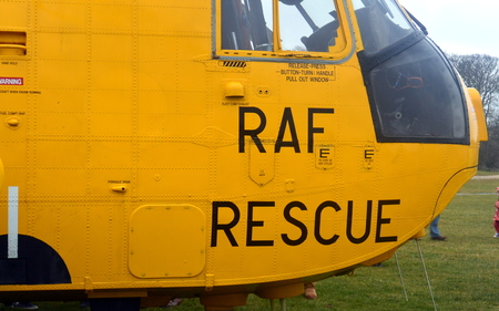 royal air force: RAF Search and Rescue Helicopter BRIDLINGTON EAST YORKSHIRE ENGLAND 15 MARCH 2015 Royal Air Force Sea King helicopter attending its final Search and Rescue training exercise with the Coastguard team at Bridlington in March 2015 Editorial