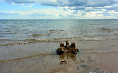 sandcastle: Sandcastle by the Shore